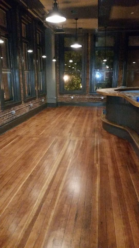 Floor in main bar looks amazing.
